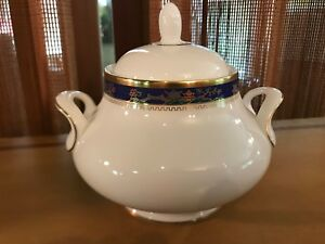 ROYAL-DOULTON-Bone-China-CATHAY-Sugar-Bowl-with-Lid