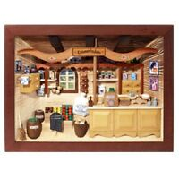 German 3d Wooden Shadow Box Picture Diorama Old Fashioned Grocery Store Market