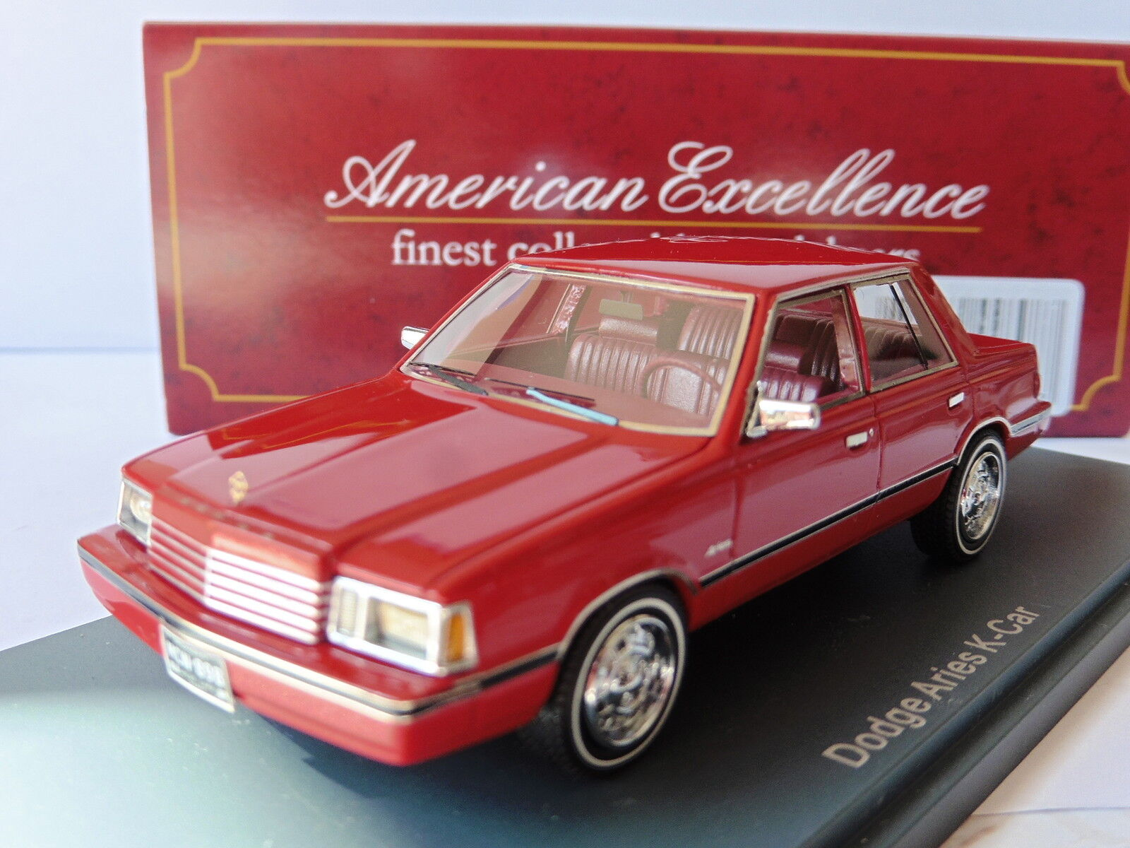 Dodge aries k car red 1983 neo 44898 1 43 red red red american are