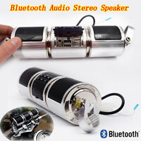 Bluetooth Motorcycle Handlebar Audio Amplifier Stereo Speaker Mp3 Usb&tf Sale
