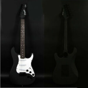 Black-White-New-Professional-High-Grade-Basswood-22-Frets-Electric-Guitar