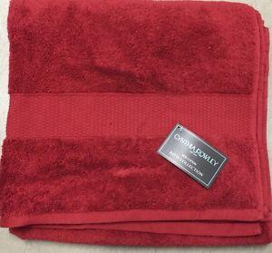 Cynthia Rowley Red Cranberry Bath Towel Set Of 6 Hand And Washcloth