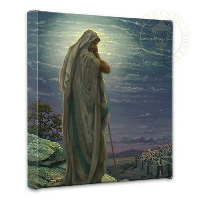 Thomas Kinkade Prayer for Peace  14 x 14 Gallery Wrapped Canvas