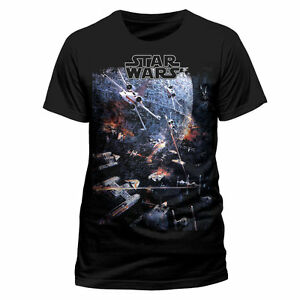 Star-Wars-Oficial-Universo-Galaxy-Luchador-Estampado-Unisex-Cuello-Redondo