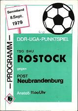 DDR-Liga 79/80 TSG construcción rostock-post Neubrandenburg, 08.09.1979