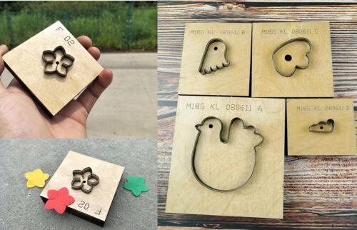 Custom steel Laser logo leather punch die cutter blade leather cutting Mold DIY