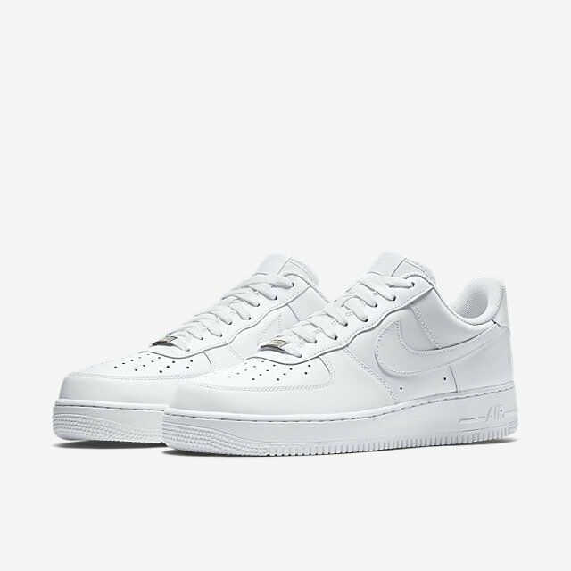 Nike Air Force 1 One Low Top All Triple White 315122 111 AF1 Uptown Size 8 13