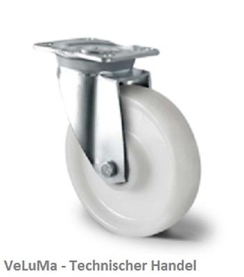 Transportrollen Schwerlastrollen Gummi Rad Lenkrollen mit Bremse Bockrolle 160mm