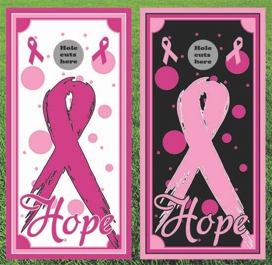 Cancer Awareness Cornhole Wrap Set  - Fast Shipping    buy 100% authentic quality