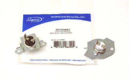 Supco SET50897 Dryer Thermostat Thermal Fuse Replaces W11050897 Whirlpool