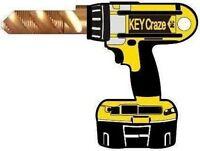 Drill House Key Blank - Looks Like A Dewalt - For Schlage Sc1