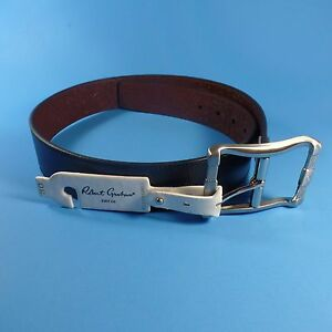 NEW-Mens-ROBERT-GRAHAM-Size-30-Belt-Reversible-Black-Brown-Simulated-Leather-NWT