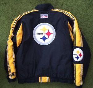 timeless design 5c0df 7d445 Details about Vintage Starter Pittsburgh Steelers Jacket NFL Pro Line XL