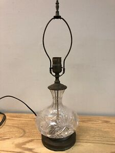 Vintage-Cut-Glass-Table-Lamp-w-Harp-amp-Finial