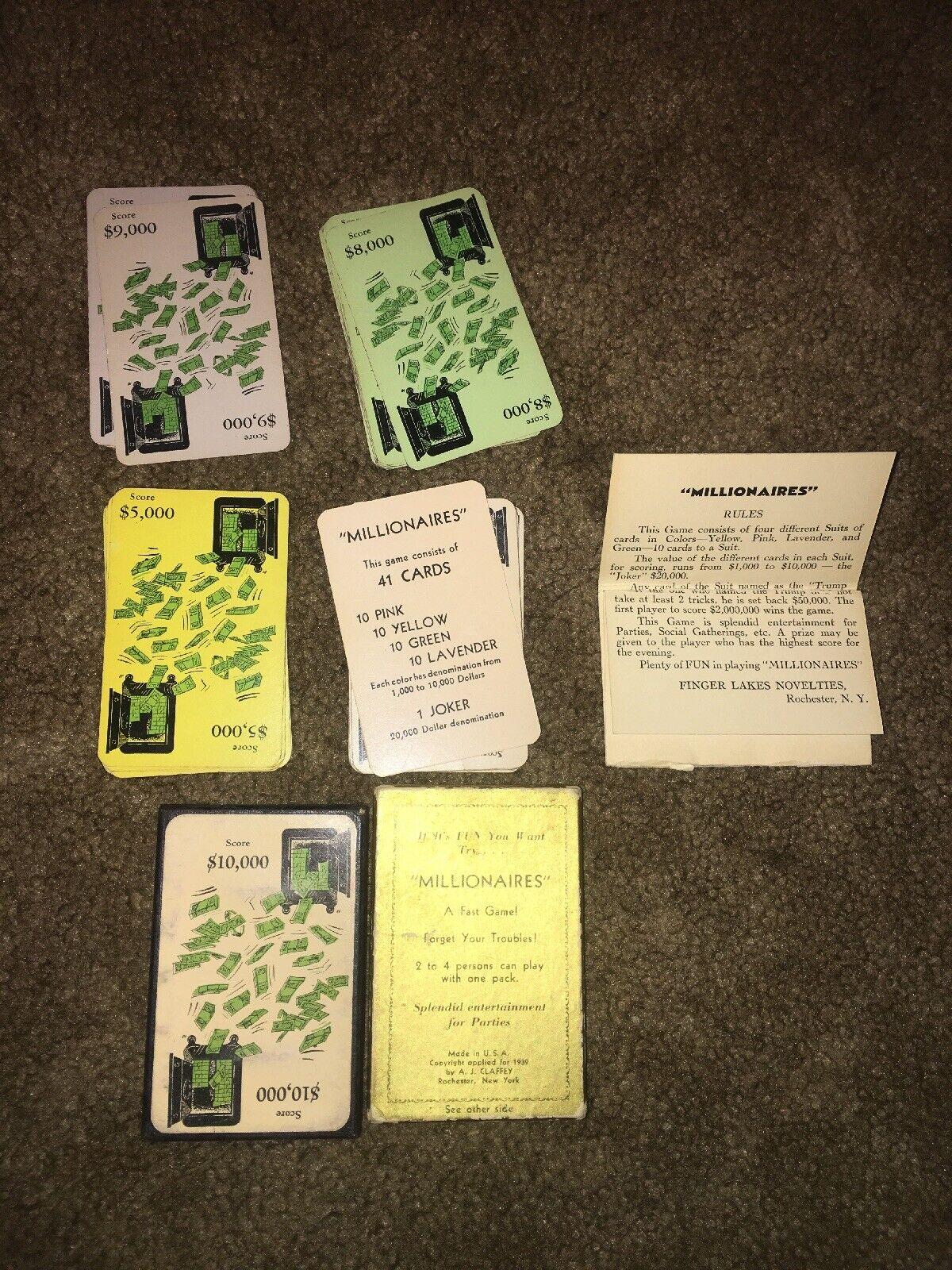 Finger Lakes Novelcravates Millionaires Vintage voitured Game  Rochester NY  magasin d'usine de sortie