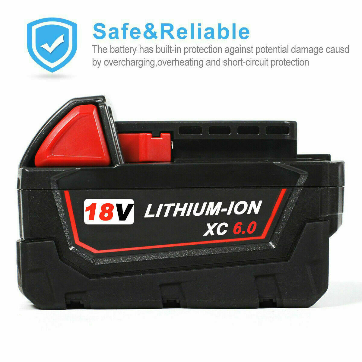 5Ah 18 Volt Lithium Ion Milwaukee M18B5 18V 5.0Ah RED Li-ion Battery Pack