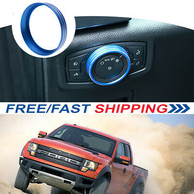 For Ford F-150 Mustang 2015-2018 Headlight Switch Decorative Red Frame Trim