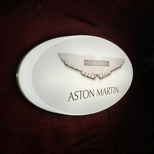ASTON MARTIN LED ILLUMINATED LIGHT UP GARAGE SIGN PETROL GASOLINE AUTOMOBILIA