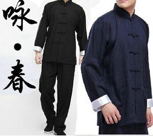 Chinese-Wing-Chun-Kung-Fu-Suits-Martial-Arts-Tai-Chi-Uniform-Bruce-Lee-Costume