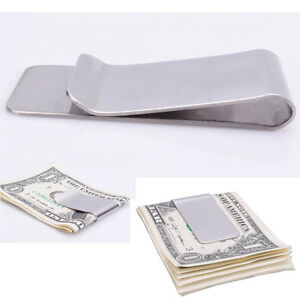 New-High-Quality-Slim-Money-Clip-Credit-Card-Holder-Wallet-Stainless-Steel