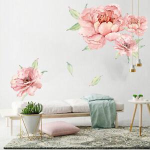 PVC-Peony-Flower-Blossom-Wall-Stickers-Art-Baby-Nursery-Room-Decor-Mural-Decal