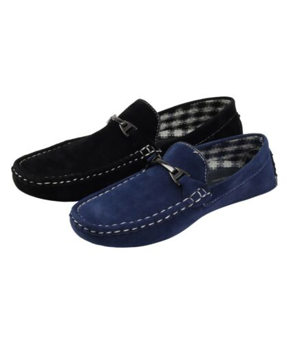 boys loafers Boat Shoes Moccasins Kids  Deck Suede Look  Driving Slip On  Ribbon