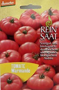 Tomate-Marmande-Saatgut-Samen-Bio-aus-biologischem-Anbau-ReinSaat