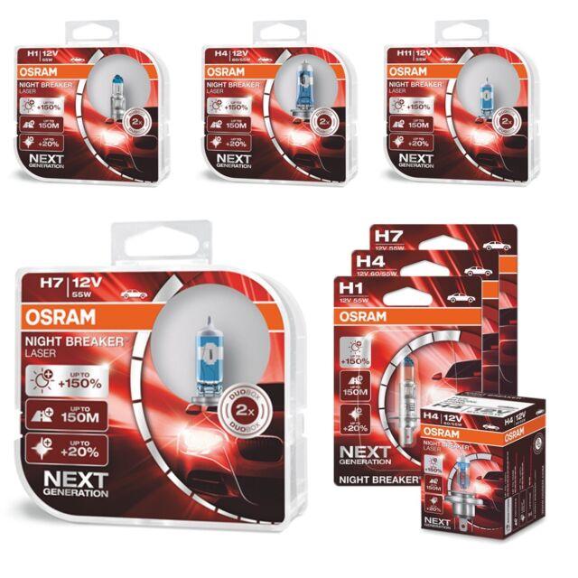 Osram Night Breaker láser (próxima generación) +150% H1 H4 H7 H11 HB3 Bombillas De Luz