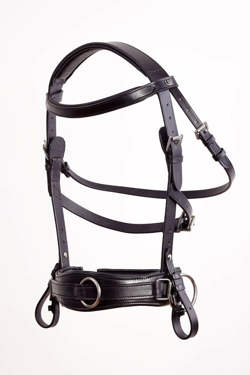Kappzaum Royal Comfort negro cuero Pony cob full en exclusiva by crownclub