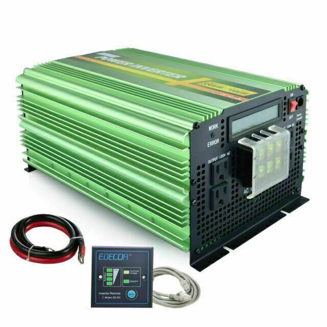 Edecoa 3500w 12v To 120v Ac Pure Sine Wave Power Inverter 19211g35lus 1 For Sale Online Ebay