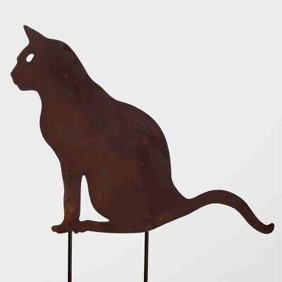 G2055 Landhaus Garten Deko Edelrost Katze Putzige Katze zum aufstellen