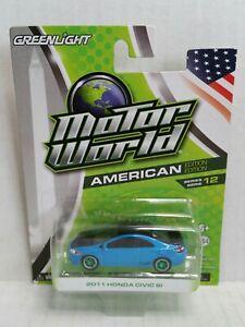 Rare-Motor-World-American-2011-Honda-Civic-Si-Green-Machine-Chase-Blue