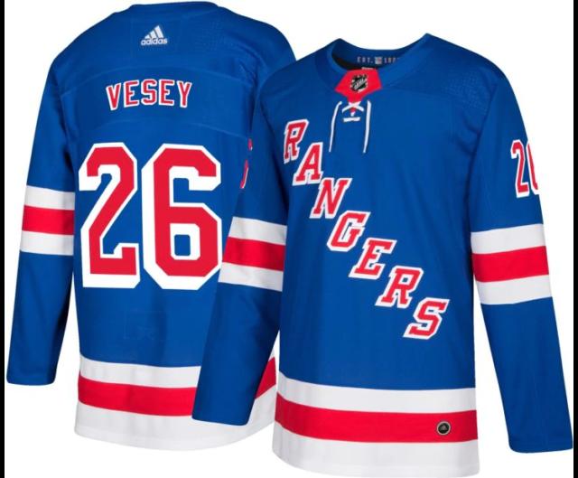 hot sale online 3ed59 c64f9 adidas Men's US 52 Jimmy Vesey NY Rangers Jersey Blue 252ja