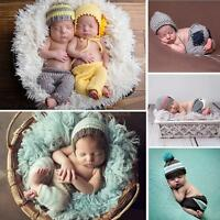 Newborn Photo Props Baby Girls Boys Crochet Knit Costume Photography Prop Outfit