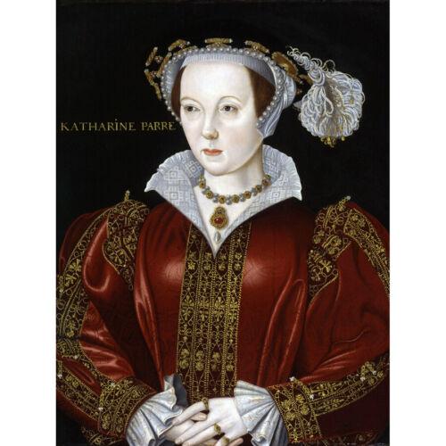 Scrotts Portrait Catherine Parr Painting Canvas Art Print Poster