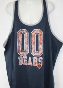 NEW Womens NFL Apparel Chicago Bears 00 Charcoal Tank Top Football ... 848f942299
