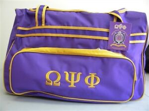 122c3f8c5a88 Omega Psi Phi Fraternity Luggage bag with Wheels Handle extension ...