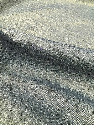 "Shimmer Blue Denim Fabric Material 60"" Wide - Cotton with Elastane"