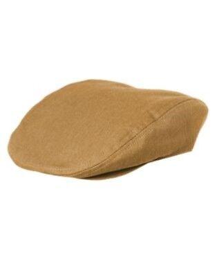 GYMBOREE HOLIDAY SHINE TAN HERRINGBONE DRIVING CAP HAT 6 12 24 2T 3T 4T 5T NWT