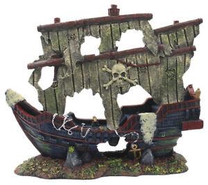 Superfish Schiffswrack Grosse Xxl 70x26x56cm Aquarium Dekoration Piraten Schiff Ebay