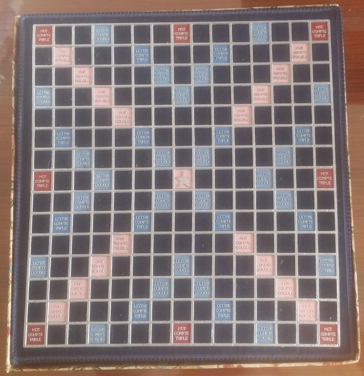 Jeu de société Scrabble Scrabble Scrabble de Luxe - Smir France - Plateau tournant - Tapisserie ef9379