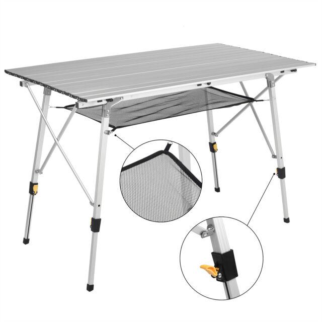 Campingtisch Klappbar Aluminium Tisch Falttisch Gartentisch höhenverstellbar