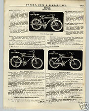 1936 PAPER AD Silver King Bicycle Deluxe Model Head Light Rack Specs Price