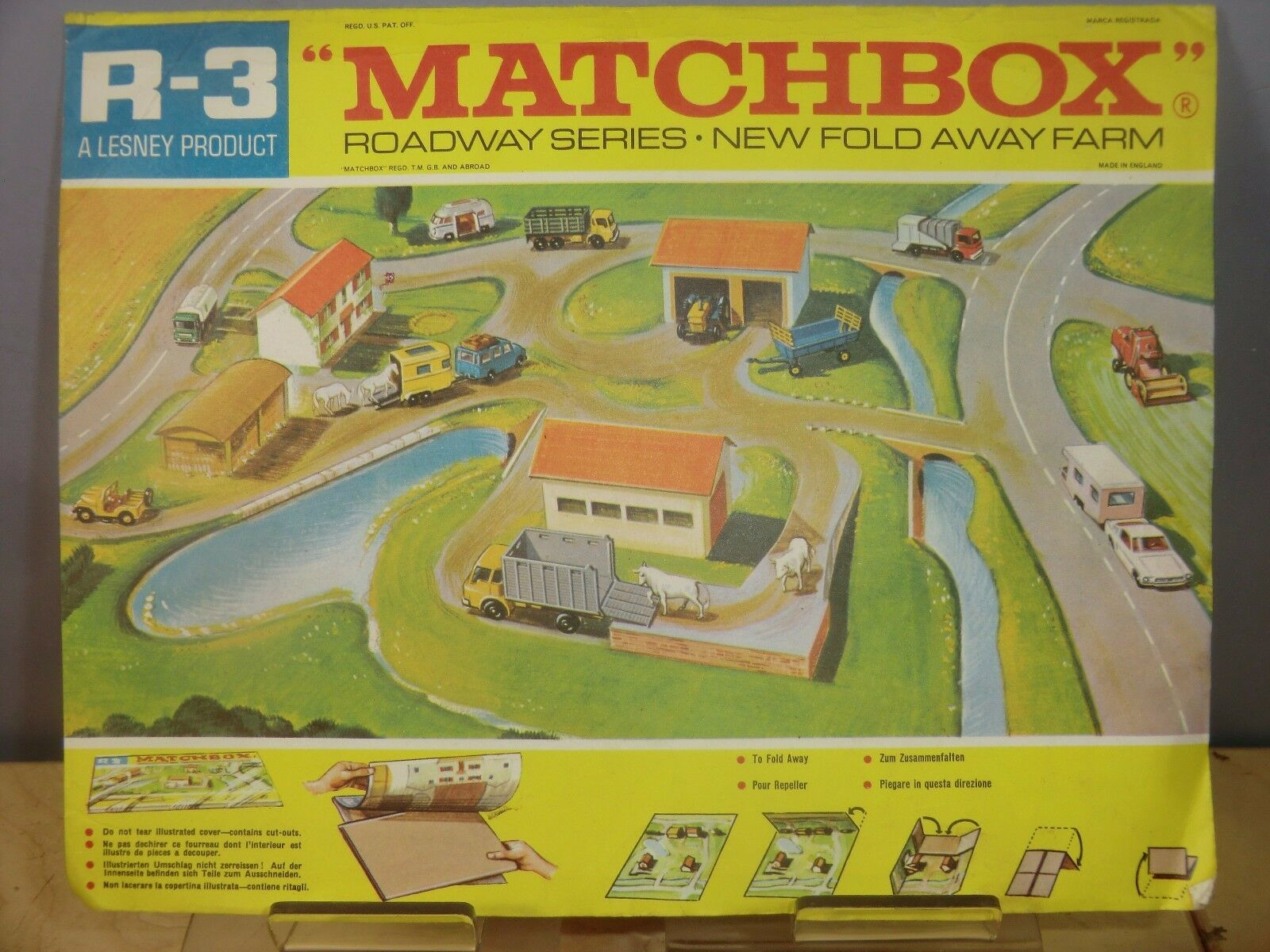 Matchbox Lesney Modelo no. R3 calzada con paso sobre la Diseño VN MIB plegables