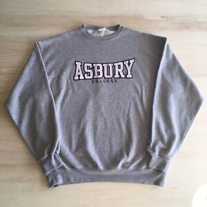 Vintage-90s-Champion-Sweatshirt-Mens-XL-Asbury-College-Spell-Out-University-Gray