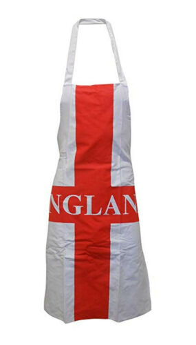 England Adults Novelty Chefs Apron and Large Oven Glove Bbq Mitt Rugby Sports