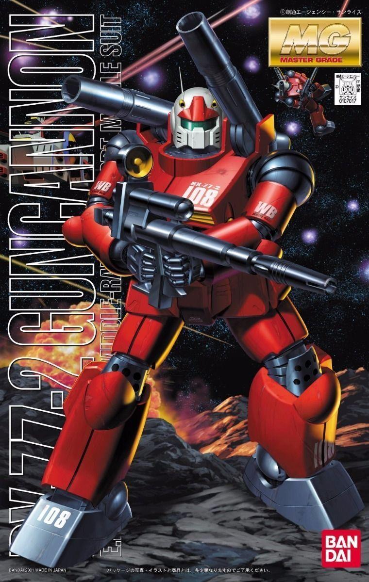 Bandai MG 1 100 Rx-77 Guncannon Maqueta de Plástico en Kit Gundam Nuevo de Japón