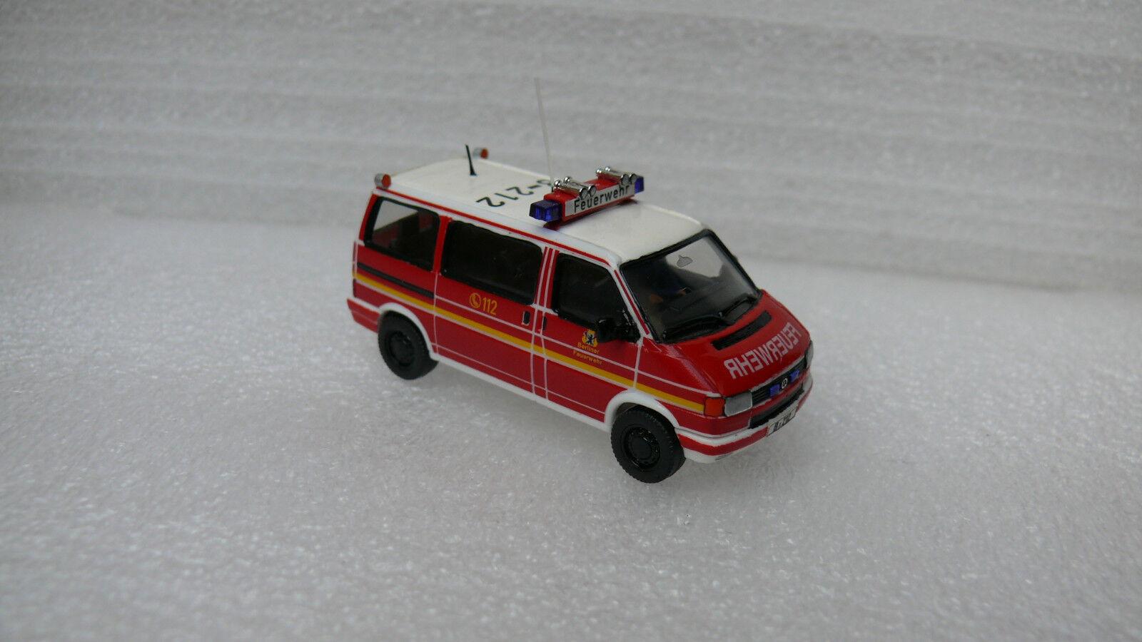 Pompiers Berlin ELW 1 C-service vw t4 2,5 Syncro FF Garde Rudow b-212 h0 TOP RAR