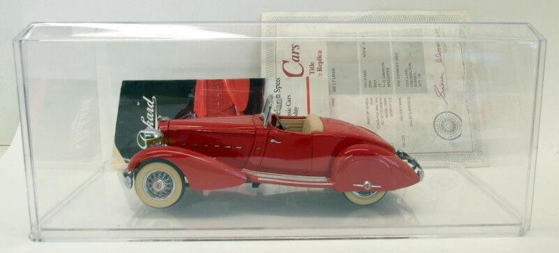 Danbury Danbury Danbury Mint 1/24 Scale Diecast 1934 Packard V-12 LeBaron Speedster Rouge   Case | Le Prix De Marché  de2aba