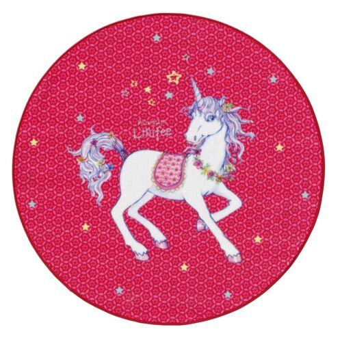 Teppich Prinzessin Lillifee Kinder Einhorn LI-103 49,68 EUR//qm 100cm rund